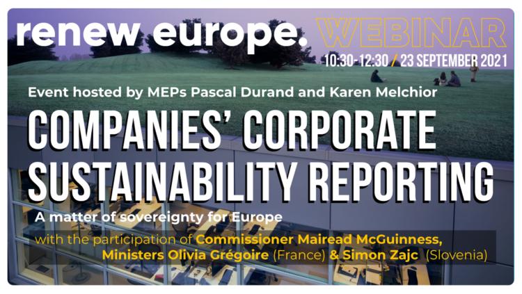 210923 Companies Corporate Sustainability Reporting webinar